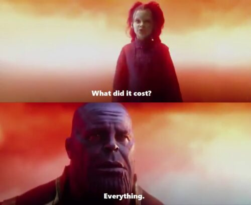 Foto 07 - What did it cost - Everything - Thanos, Gamora